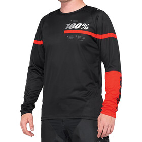 100% R-Core DH Jersey Heren, black/red